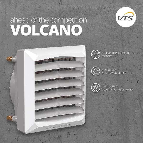 Воздушный тепловентилятор VOLCANO