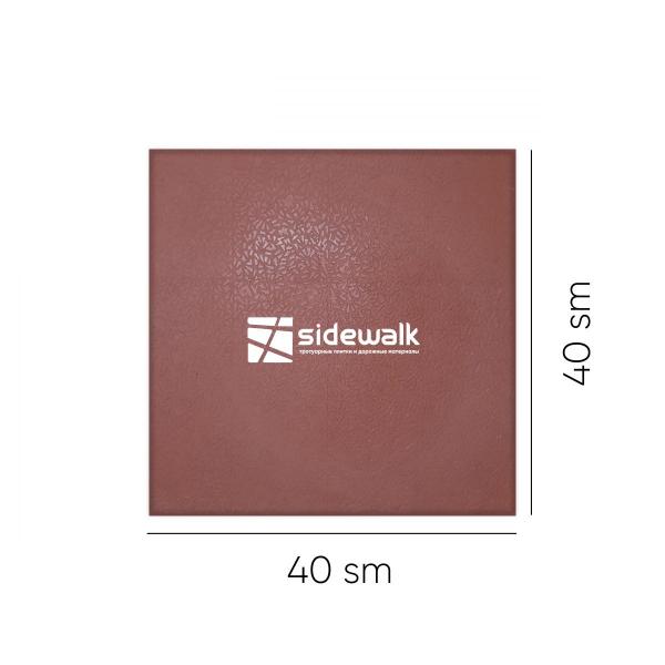 """Тротуарная плитка """"Снежинка"""" 400х400х30 (красного цвета)"""
