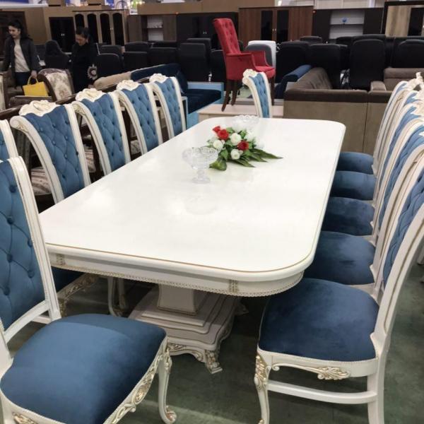 Банкетный стол с 8 стульями 2400х900х750 мм