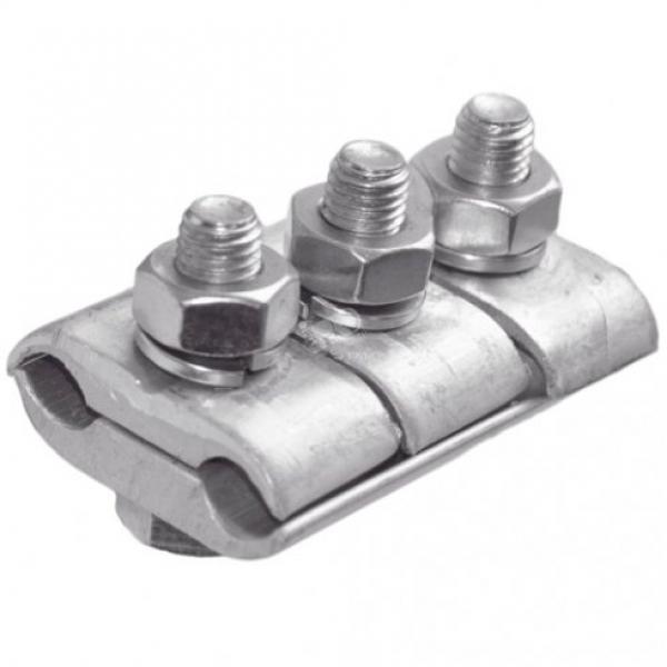 ЗАЖИМ ПЛАШЕЧНЫЙ ПА-2-2 ТРЁХ БОЛТОВОЙ - для стальных проводов и канатов