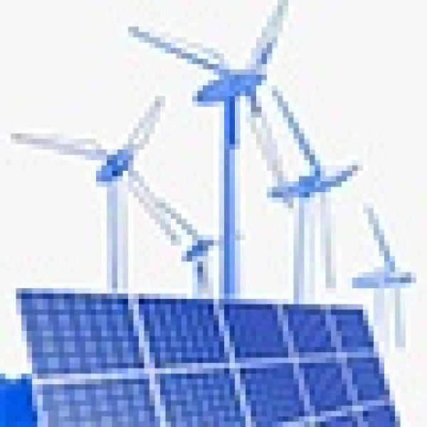 Строительство солнечных и ветровых электростанций