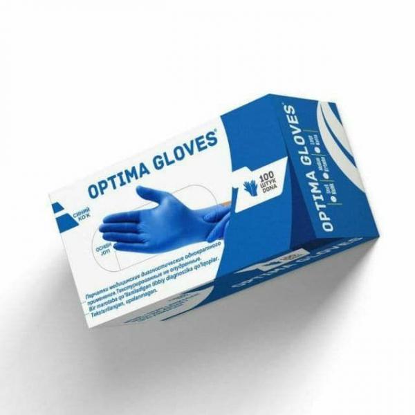 Перчатки медицинские диагностические текстурированные, однократного применения из нитрильного латекса, нестерильные, неопудренные. Размер S, L, M
