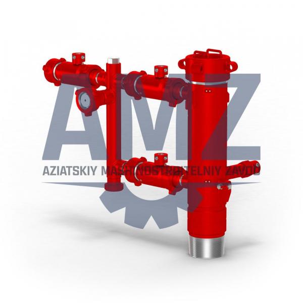 Головка универсальная цементировочная ГЦУ 245А для обвязки устья нефтяных, газовых и геологоразведочных скважин