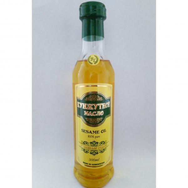Кунжутное масло (сезамовое) нерафинированное, первого сорта в пэт бутылках по 300 мл