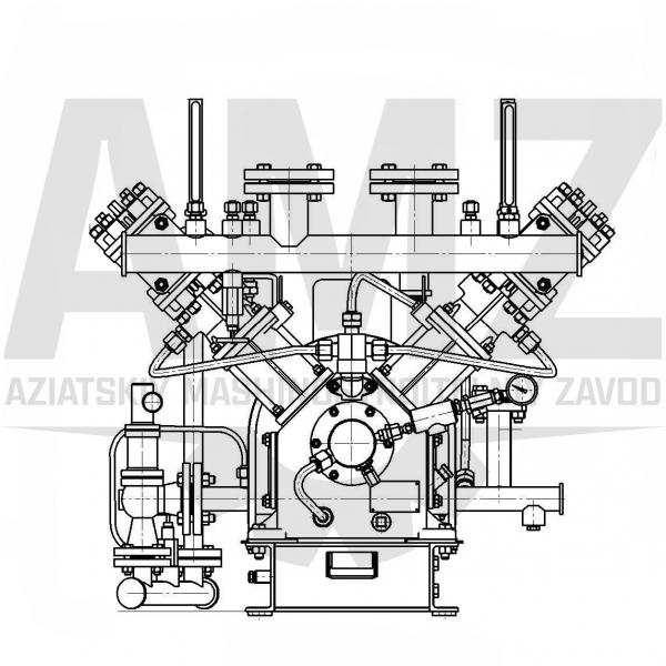 V-образная двухрядная компрессорная установка VKQ2 60-11/U2