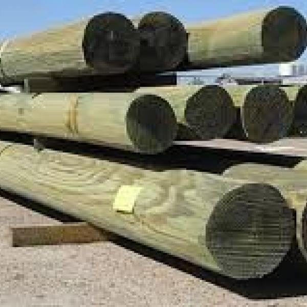 Столбы деревянные 11м х 165мм древесина хвойный пород