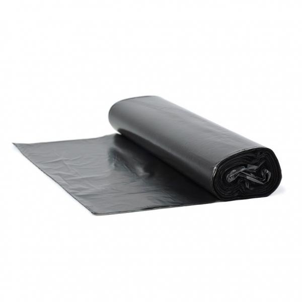 Полиэтиленовые мешки для мусора. Размер 70*70 см, с заворотом, плотность 6 мкр.