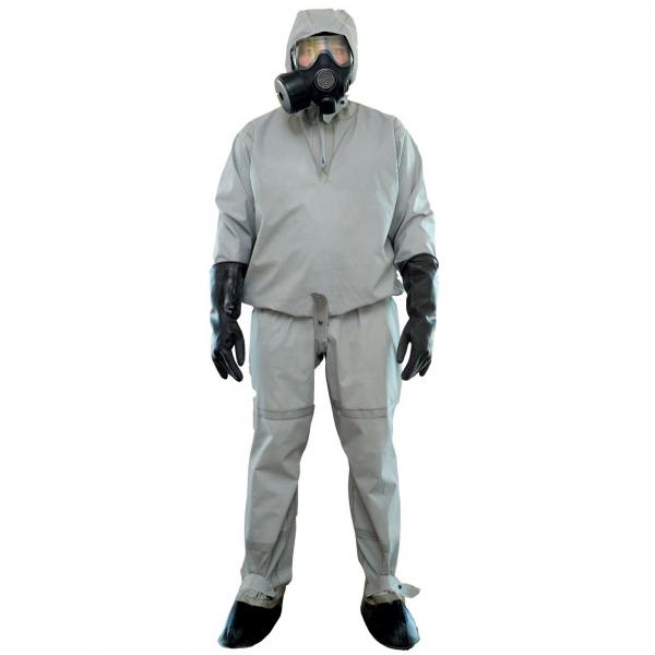 Легкий защитный костюм Л-1 от воздействия твёрдых, жидких, капельно-аэрозольных отравляющих веществ, взвесей, аэрозолей, вредных биологических факторов и радиоактивной пыли