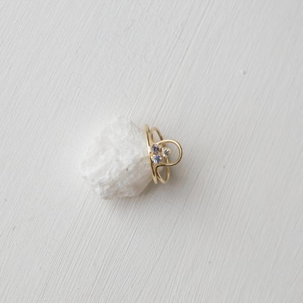 Кольцо Triple с сапфирами