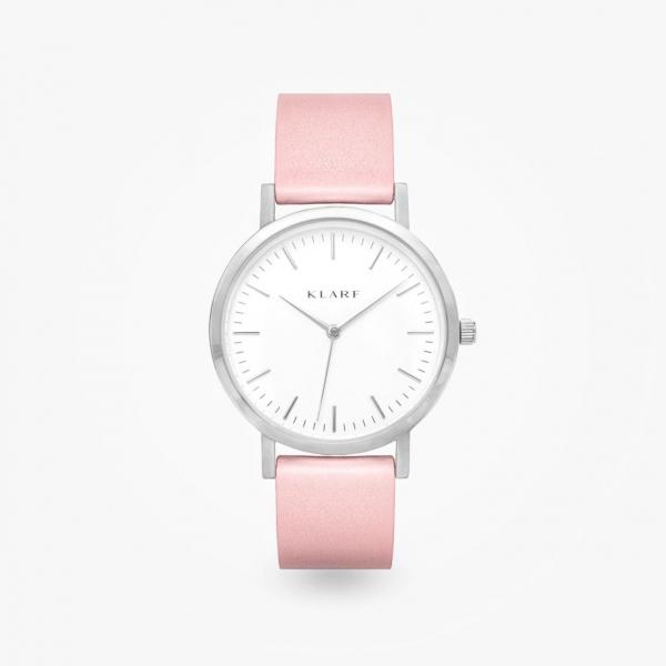 Часы с розовыми кожаными ремешками из коллекции Classic