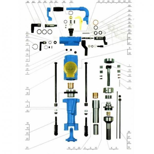 Запасные части и комплектующие к пневматическому перфоратору YТ28