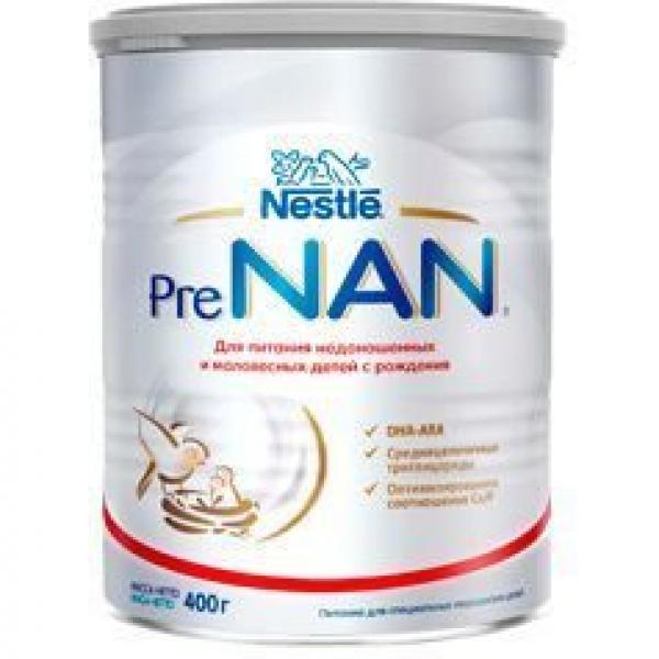 NAN PRE (Nestle) Сухая молочная смесь для недоношенных и маловесных детей с рождения, 400 гр.