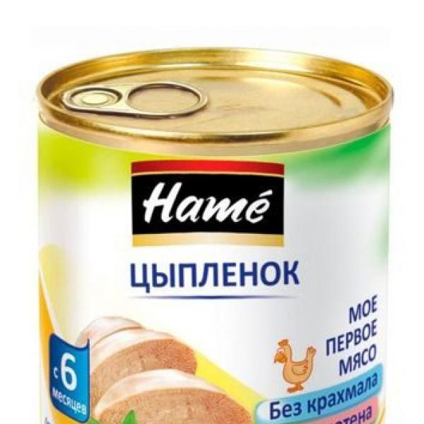 Hame Детское питание цыпленок мясное пюре 100 гр