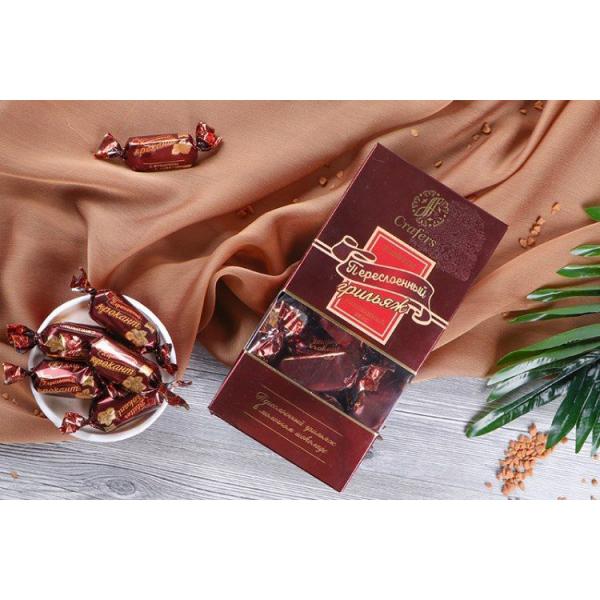 Шоколад Переслоённый крокант (Двойной перекрут) (500 гр), пакет подушка