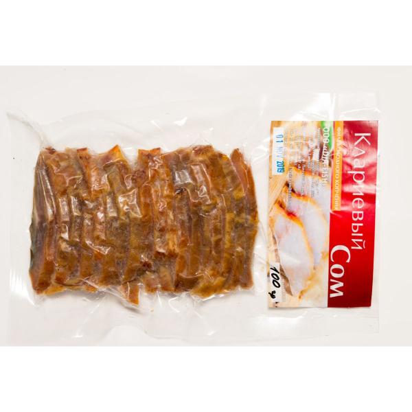 Рыбный полуфабрикат - рыба холодного копчения расфасованная по 100 гр.